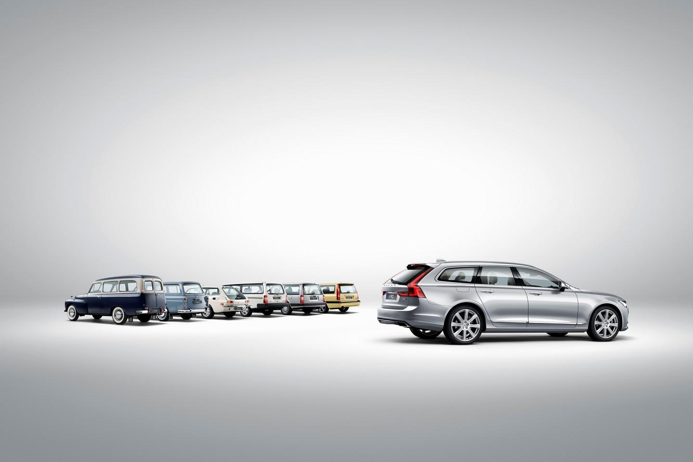 Volvo V90 and a historical line-up of Volvo estate models
